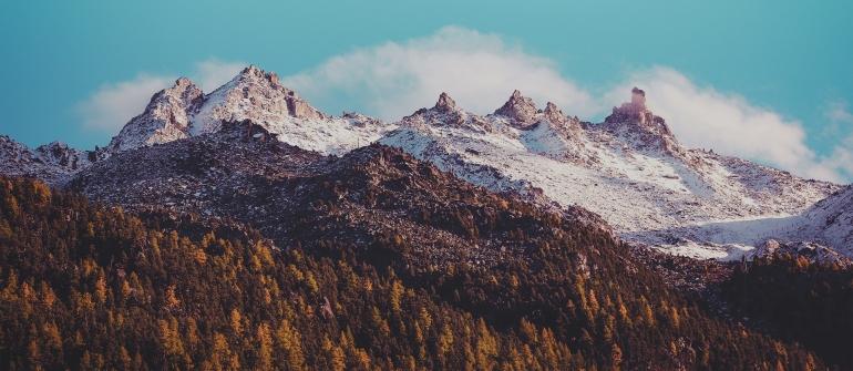 Adventure alpine alps blue sky